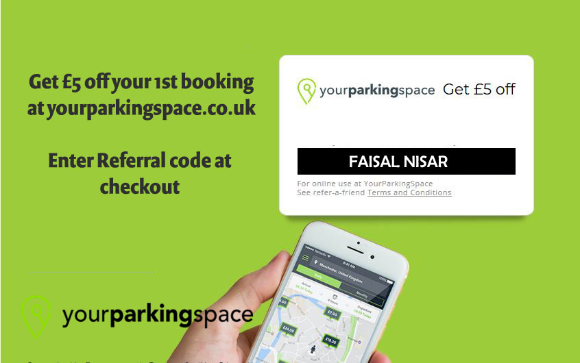 yourparkingspace referral code: FAISAL NISAR