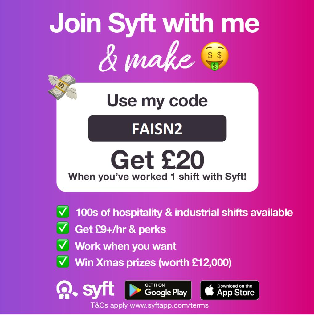 Syft Promo code: FAISN2